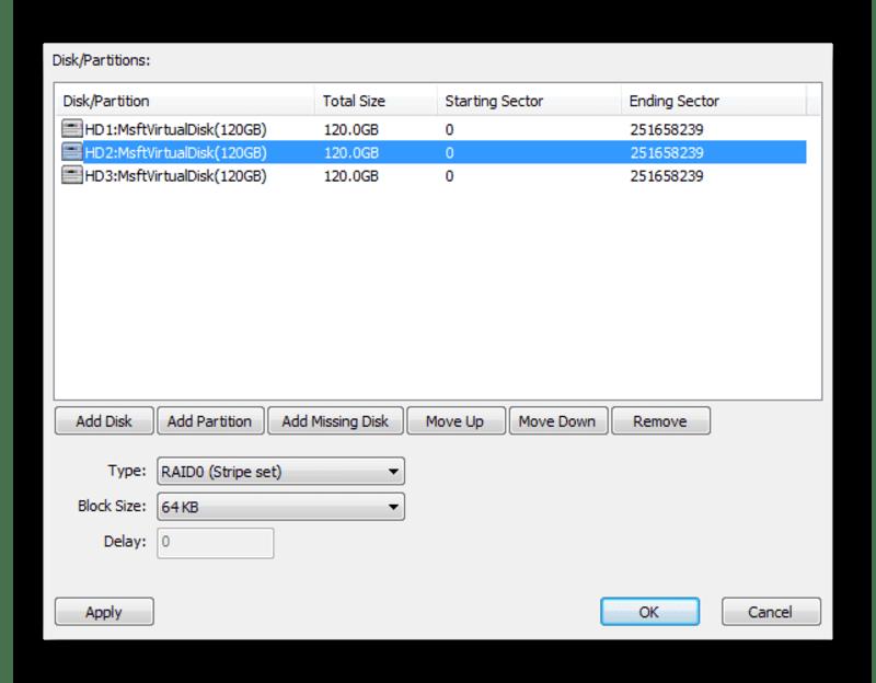 Настройка виртуального RAID-массива в программе Eassos PartitionGuru