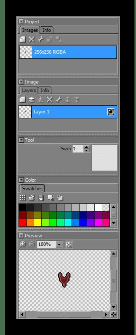 Панель управления Pixelformer