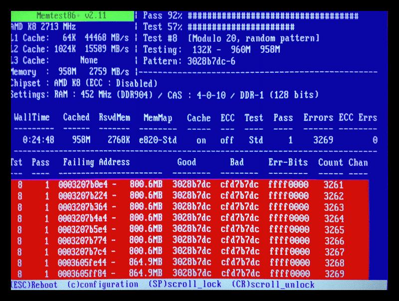 Программа для проверки оперативной памяти MemTest86