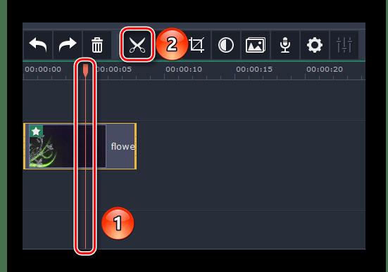 Разрезаем клип на части в Movavi Video Editor