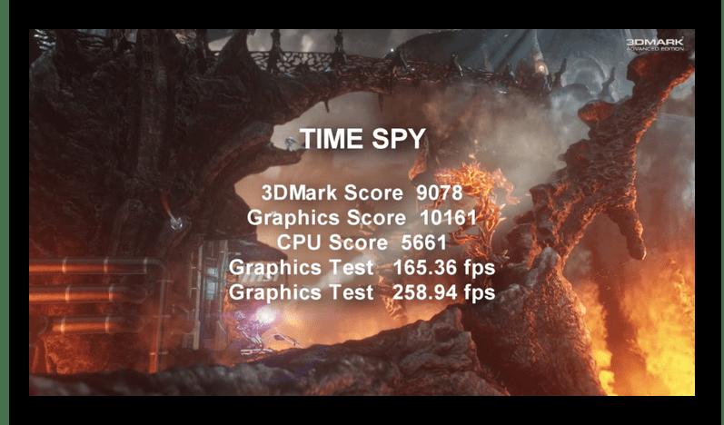 Результат теста в Time Spy