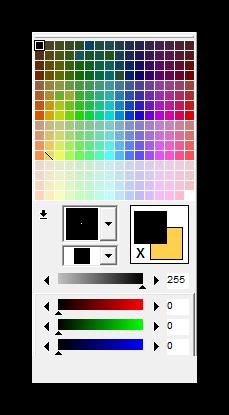 Цветовая палитра GraphicsGale