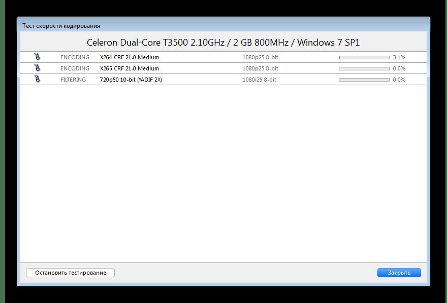 Тест скорости кодирования XviD4PSP