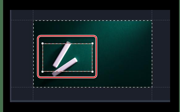Указываем область клипа для увеличения в Movavi Video Editor