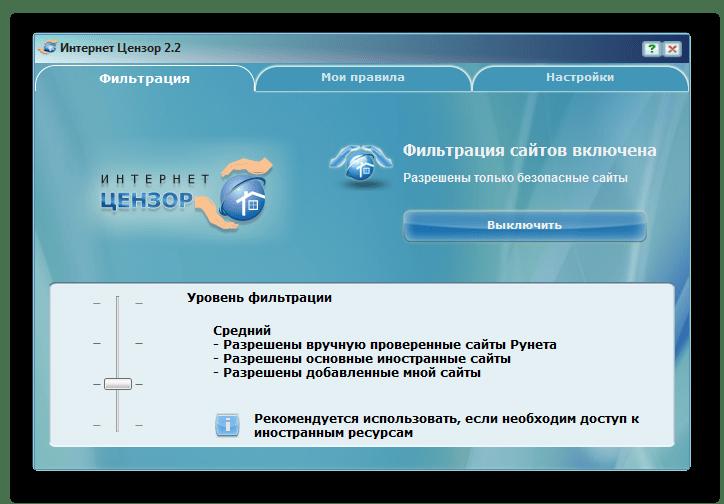 Уровни фильтрации Интернет Цензор