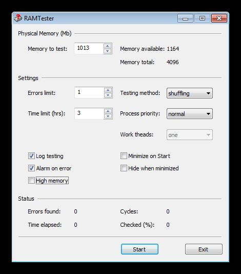 Утилита для проверки ОЗУ на наличие ошибок RightMark Memory Analyzer