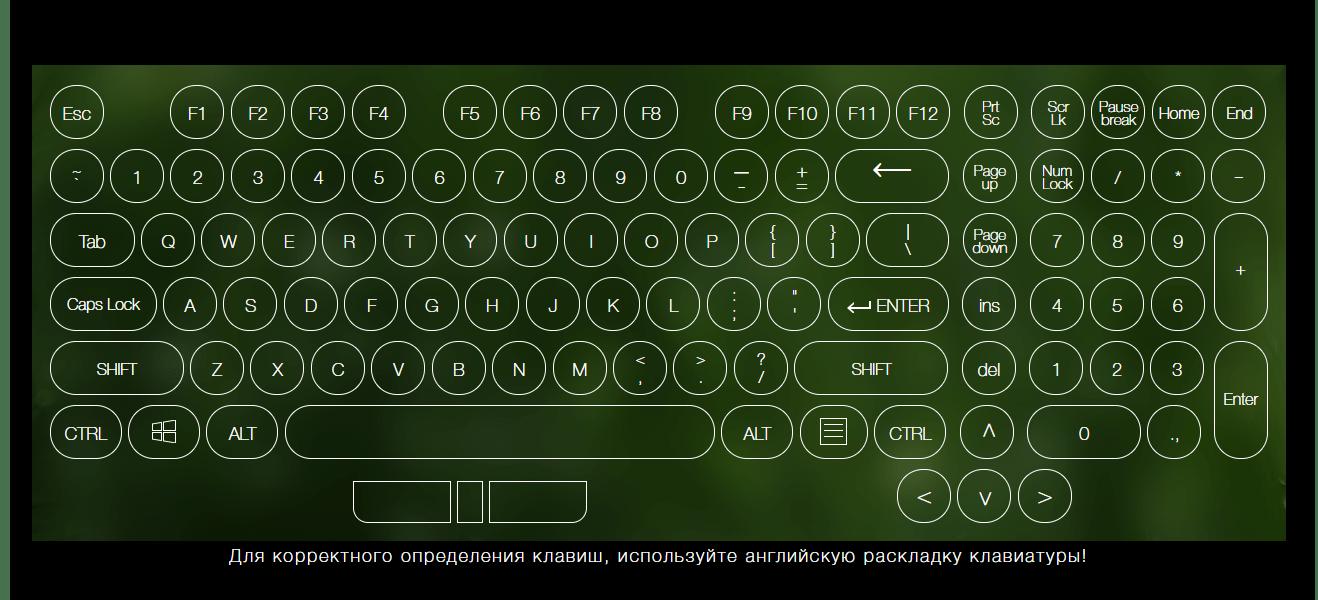 Виртуальная клавиатура на сервисе Key-Test