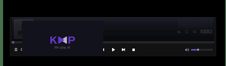 Воспроизведение аудиокниги M4B в программе KMPlayer