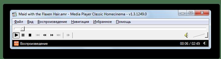 Воспроизведение файла AMR в программе Media Player Classic