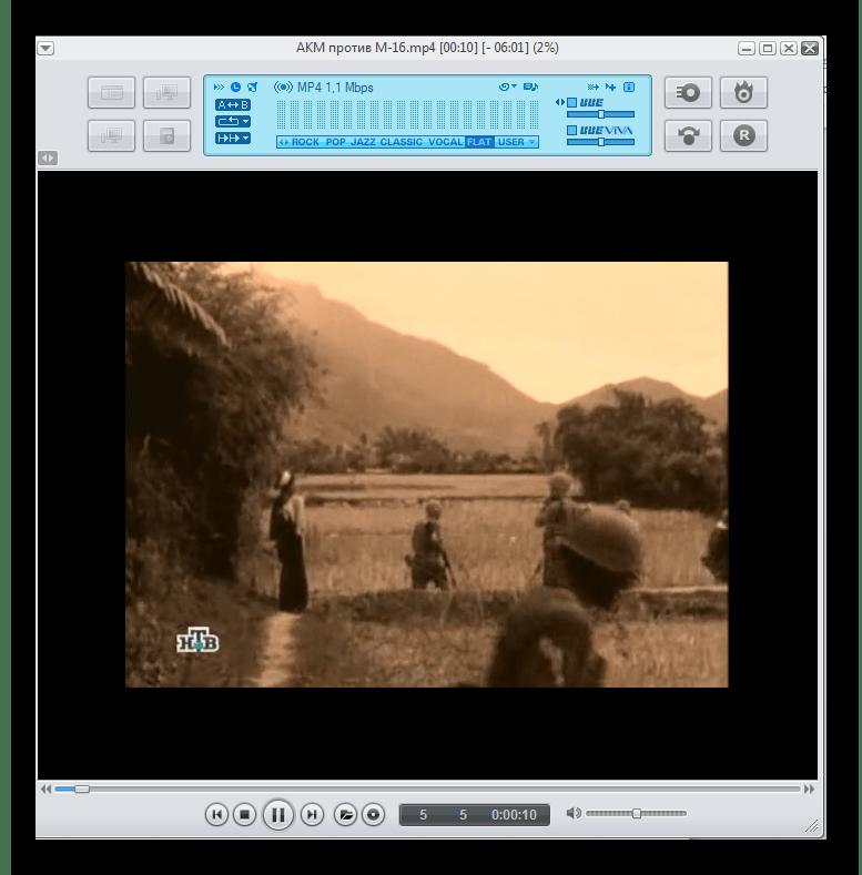 Воспроизведение видеофайла MP4 в программе jetAudio