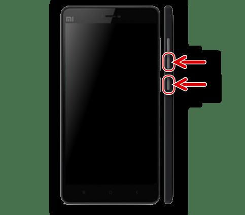 Xiaomi Mi4C запуск в режиме Fastboot