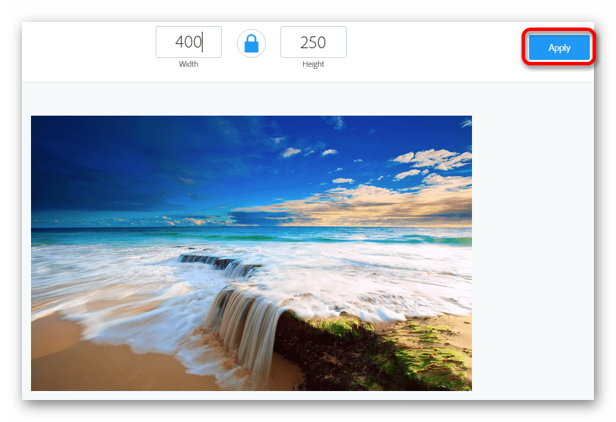 Задаем размер изображения Онлайн фоторедактор Aviary