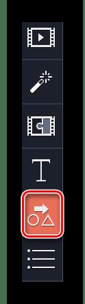 Заходим в раздел Фигуры в Movavi Video Editor