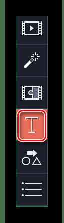 Заходим в раздел Титры в Movavi Video Editor