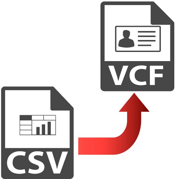 как конвертировать csv в vcard