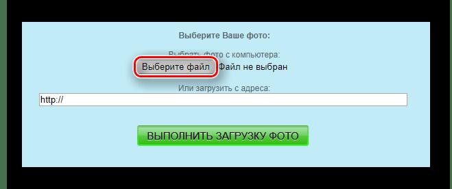 Кнопка выбора изображения для загрузки на сайт EffectFree