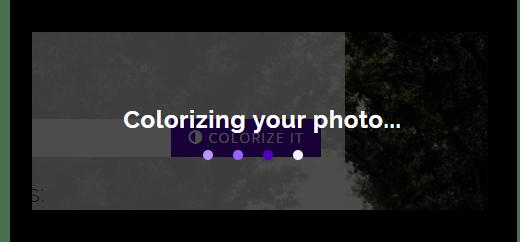 Процесс превращения черно-белой фотографии в цветную онлайн на сервисе Colorize Black