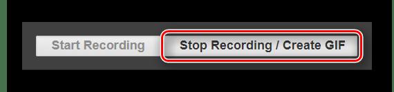 Кнопка остановки процесса конвертирования видео в анимацию на сайте Videotogiflab