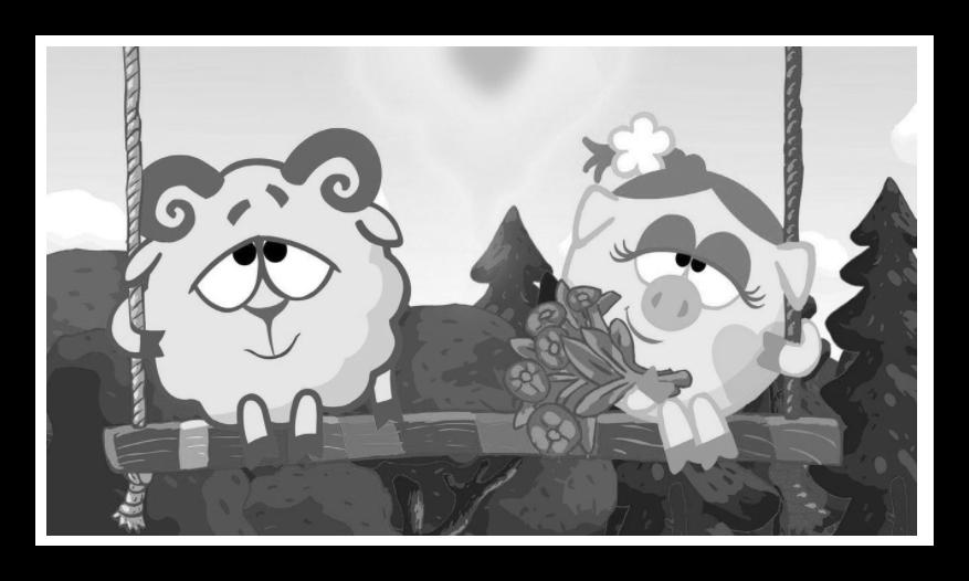 Готовая переведенная в черно-белое картинки на сайте Croper в окне предварительного просмотра