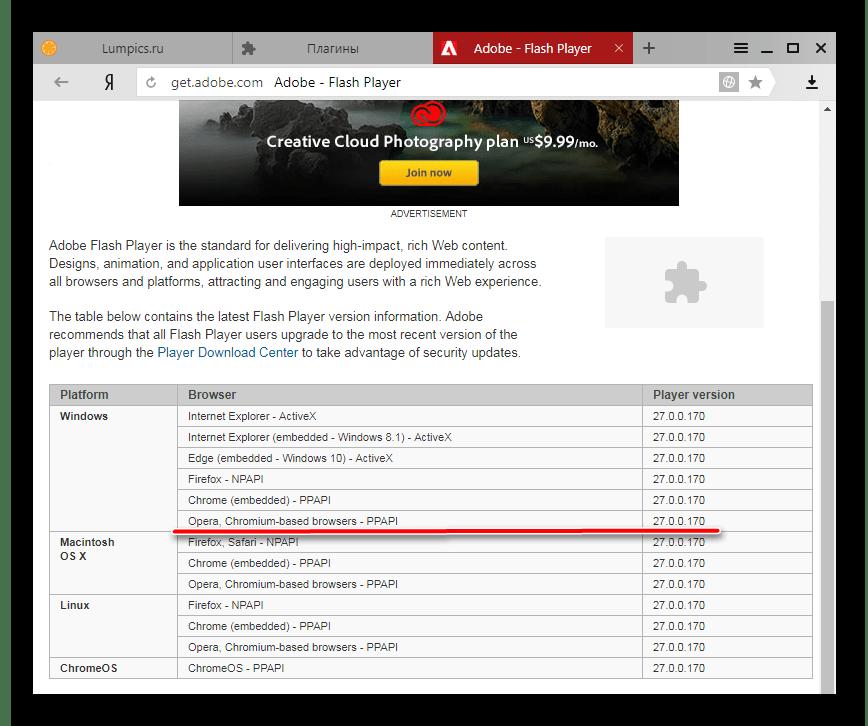 Adobe Flash Player в Яндекс.Браузер актуальная версия плагина на сайте разработчика