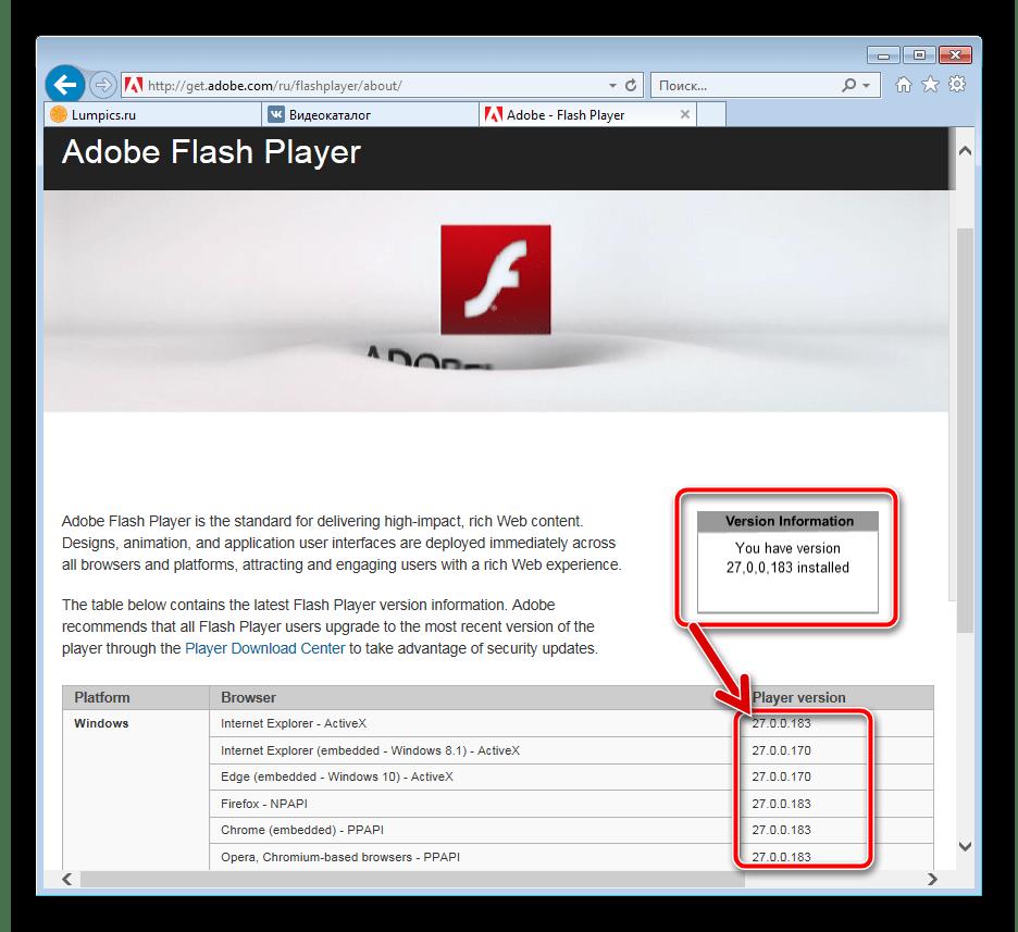 Flash Player ВКонтакте обновление версии компонентов