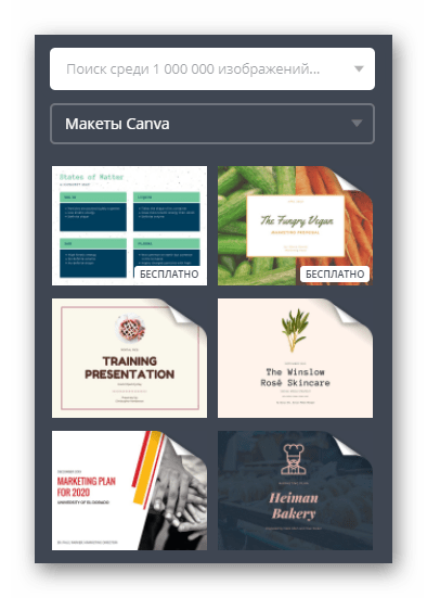 Готовые шаблоны для создания презентации на онлайн-сервисе Canva