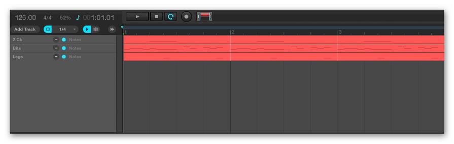 Информационная панель Audiotool