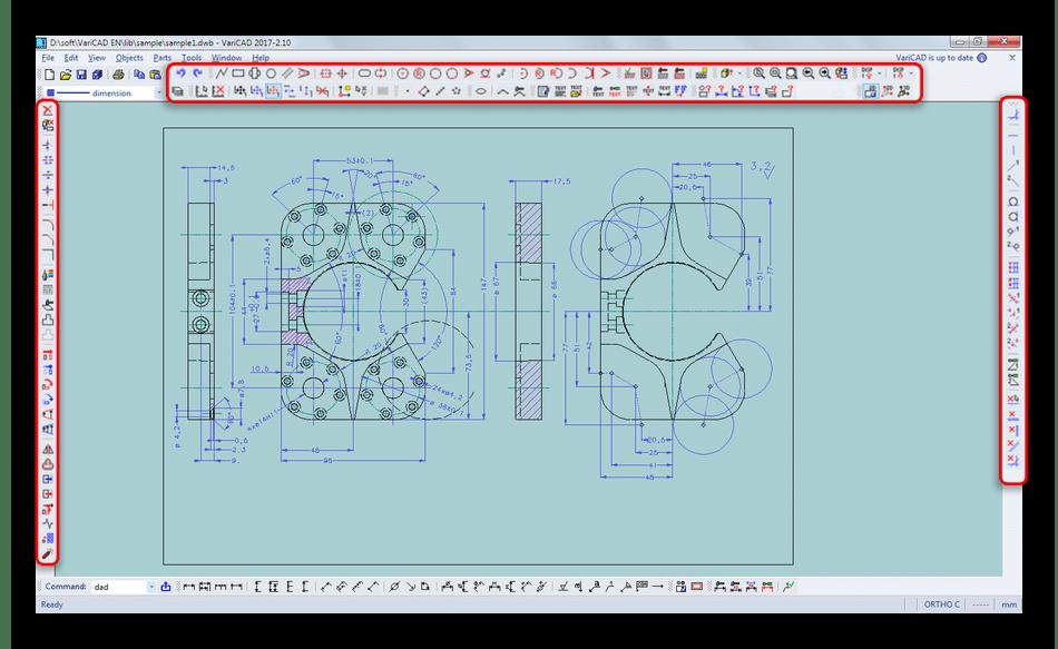 Инструменты для создания двухмерных чертежей в VariCAD