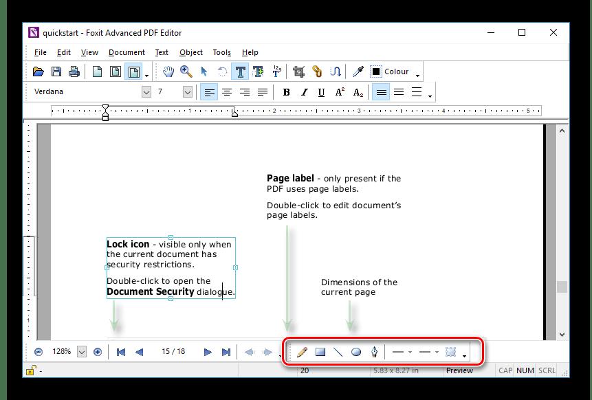 Инструменты рисования в Foxit Advanced PDF Editor