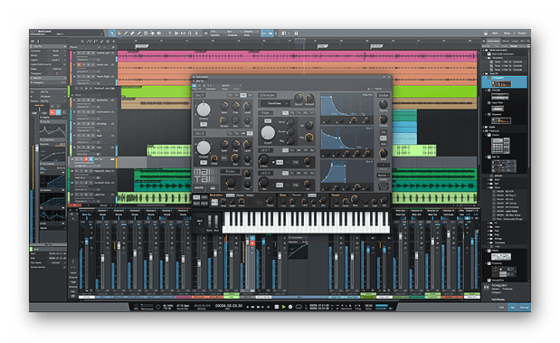 Интерфейс программного решения Studio One