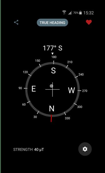Минимализм внешнего вида Digital Compass