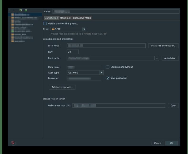Настройка веб-сервера в редакторе WebStorm