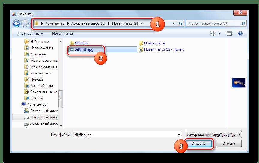 Открытие изображения JPG в окне открытия файла в программе FastPictureViewer