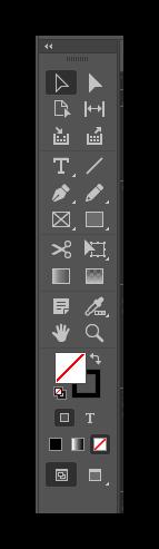 Панель инструментов Adobe InDesign