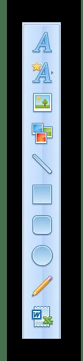 Панель инструментов RonyaSoft Poster Designer