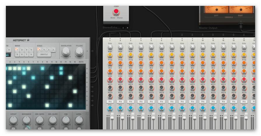 Панель с инструментами в редакторе Audiotool