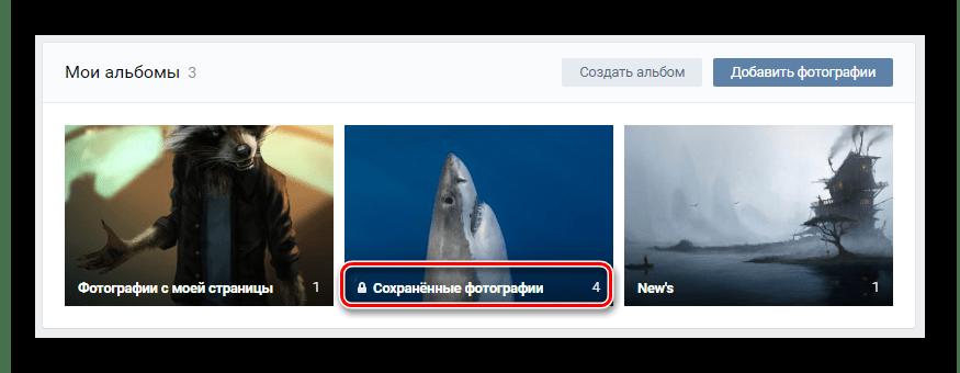 Переход к скачиванию альбома в разделе Фотографии на сайте ВКонтакте