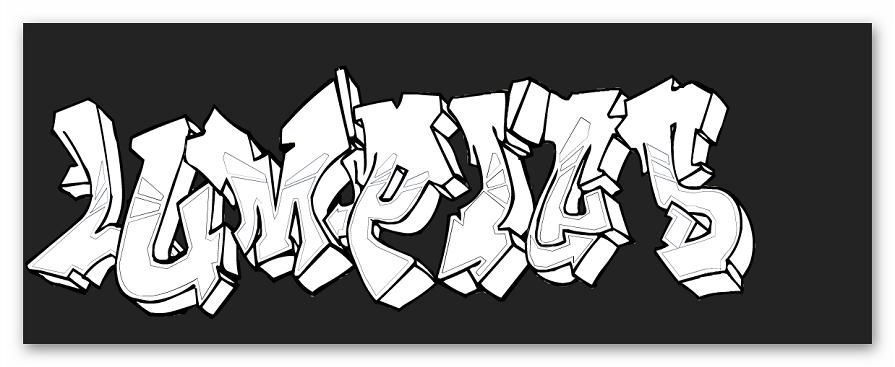Получившееся изображение на Graffiti Creator