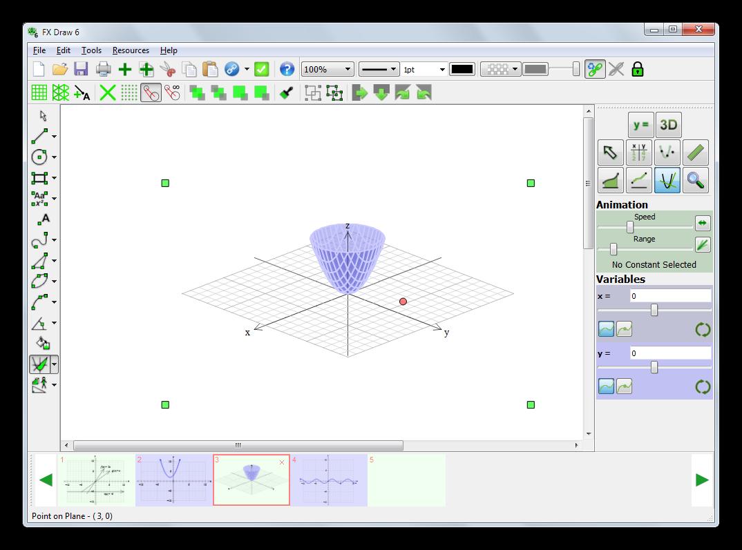 Построение объемных графиков математических функций в Efofex FX Draw