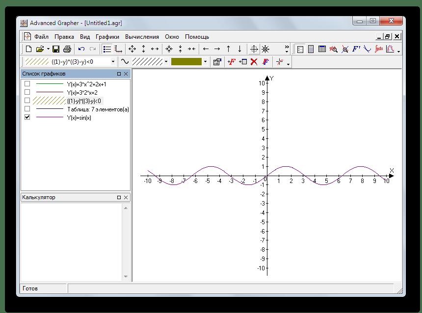 Программа для построения графиков функций Advanced Grapher
