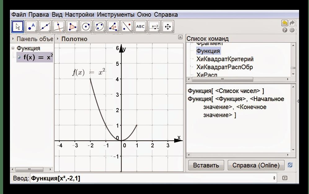 Программа для построения графиков функций GeoGebra
