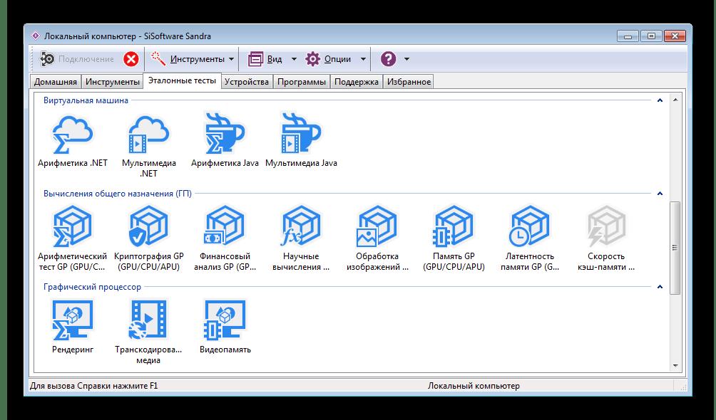 Программа для тестирования производительности видеокарты SiSoftware Sandra