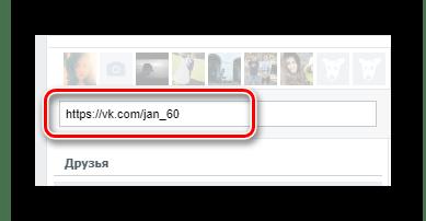 Процесс вставки URL-адреса пользователя в приложении Кого лайкает мой друг на сайте ВКонтакте