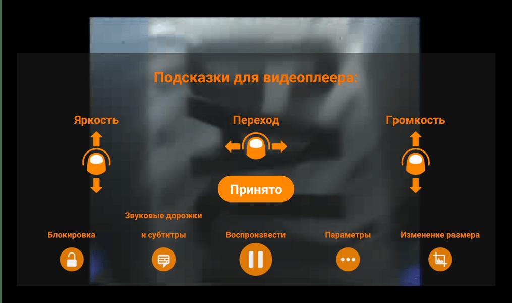 Рабочая инструкция управления VLC for Android