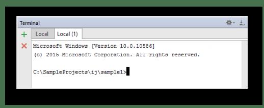 Работа в терминале в IDE WebStorm