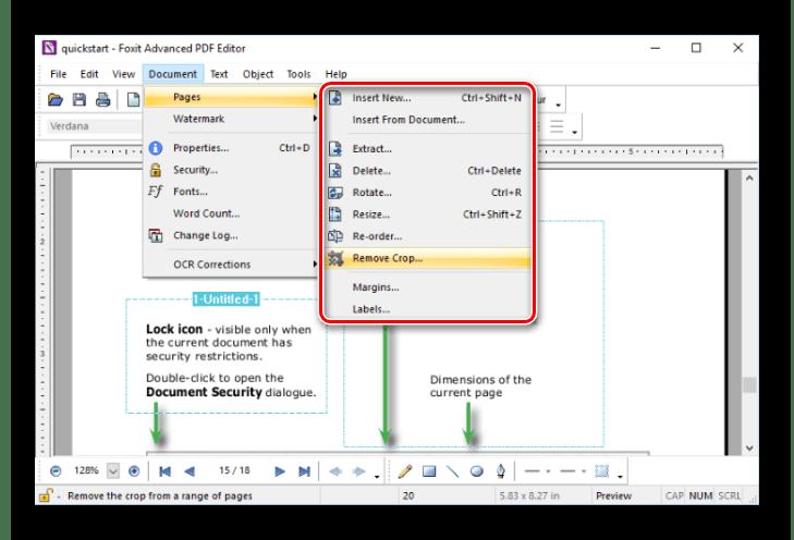 Работы со страницами в Foxit Advanced PDF Editor