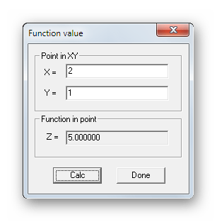 Расчет значений математической функции в Functor
