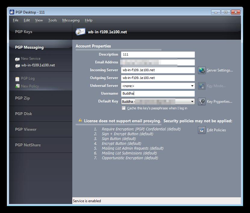 Шифрование почтовых отправлений в программе PGP Desktop