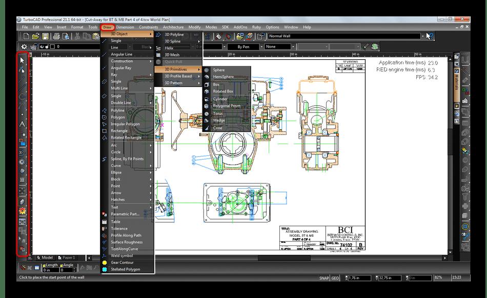 Создание двухмерных чертежей в TurboCAD