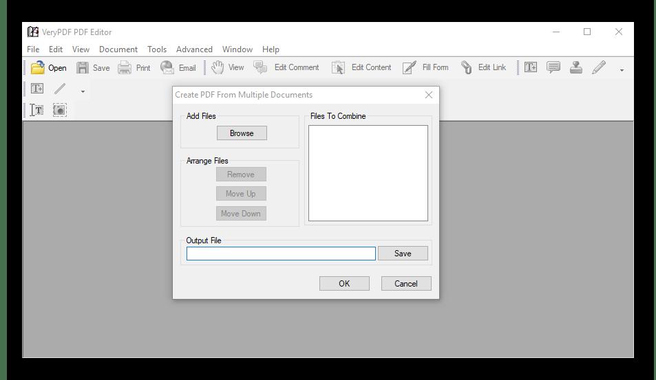 Создание в VeryPDF PDF Editor